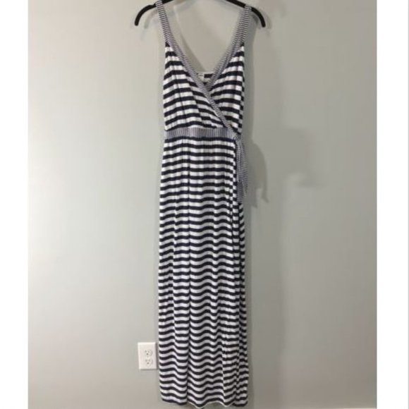 Old Navy Striped Tank Maxi Dress